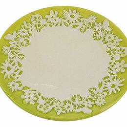 """Солонки, перечницы и ёмкости для специй - Тарелка под пасхальные яйца """"Цветы"""" 18*18*2см, 0"""