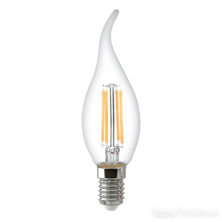 Лампа светодиодная филаментная Thomson E14 9W 4500K свеча на ветру прозрачная... по цене 220₽ - Лампочки, фото 0