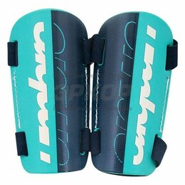 Спортивная защита - Щитки футбольные Umbro Velose Slip пластик бело-сине-зелен, 0