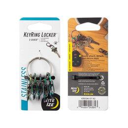 Настольные игры - Брелок для ключей NITELZE Key Ring с метал. карабинами, радужный, 0