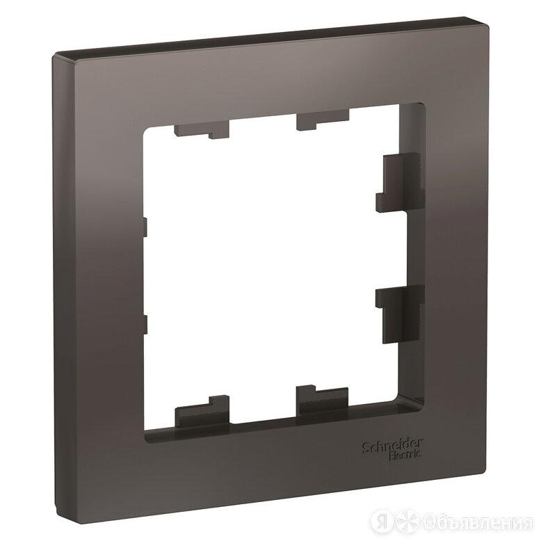 Рамка для розеток и выключателей 1 пост Atlasdesign горизонтальная мокко ATN0... по цене 57₽ - Электроустановочные изделия, фото 0