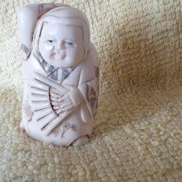 Другое -  нецке нэцкэ окамэ с веером кость япония резьба. Фигурки из кости, 0