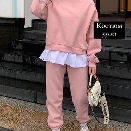 Спортивные костюмы - Костюм женский с имитацией футболки , 0
