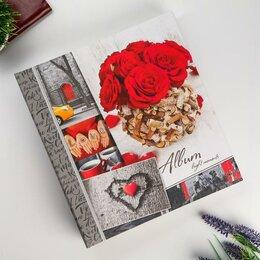 """Фотоальбомы - Фотоальбом магнитный 23Х28 см 50 листов """"Красные розы"""", 0"""