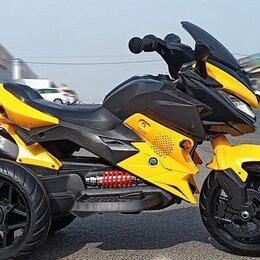 Мототехника и электровелосипеды - Электромотоцикл TB518 желтый акб 2*6V4,5Ah, 0