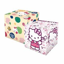 "Бумажные салфетки, носовые платки - Салфетки бумажные с рисунком World ""Hello Kitty"" (помада + круги), 2 штуки, 0"