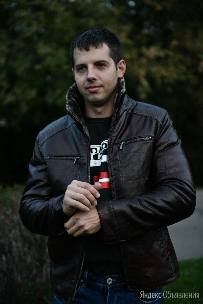Куртка мужская кожаная зима - Продавцы и кассиры, фото 0