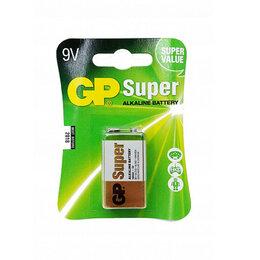 Батарейки - Алкалиновые батарейки «GP» Super 9V Крона, 1шт, цена за 1 шт, 0