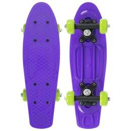 Скейтборды и лонгборды - Пенниборд 42 х 12 см, цв. фиолетовый, 0
