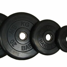 Штанги и грифы - Диски обрезиненные черные atlet barbell d-51 1,25,5,10,15,20 кг, 0