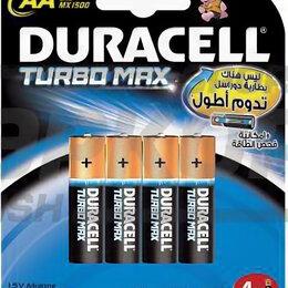 Батарейки - Элемент питания Duracell TurboMax LR6-4BL AA 1.5V 1/4, 0