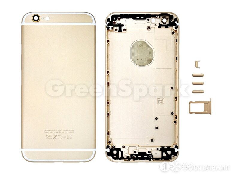Задняя крышка для iPhone 6S (золото) класс AAA по цене 650₽ - Корпусные детали, фото 0