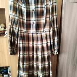 Платья - Платье в клетку теплое, 0