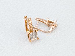 Серьги - Серьги с 50 бриллиантами из красного золота, 0