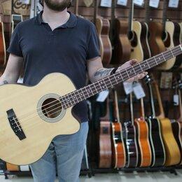 Электрогитары и бас-гитары - Электроакустическая бас гитара SJB5F-NS Cort, 0