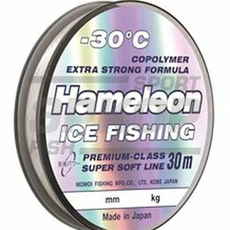 Леска и шнуры - Леска Momoi Hameleon Ice Fishing 30 м серебрянная 1/10 (х10), 0