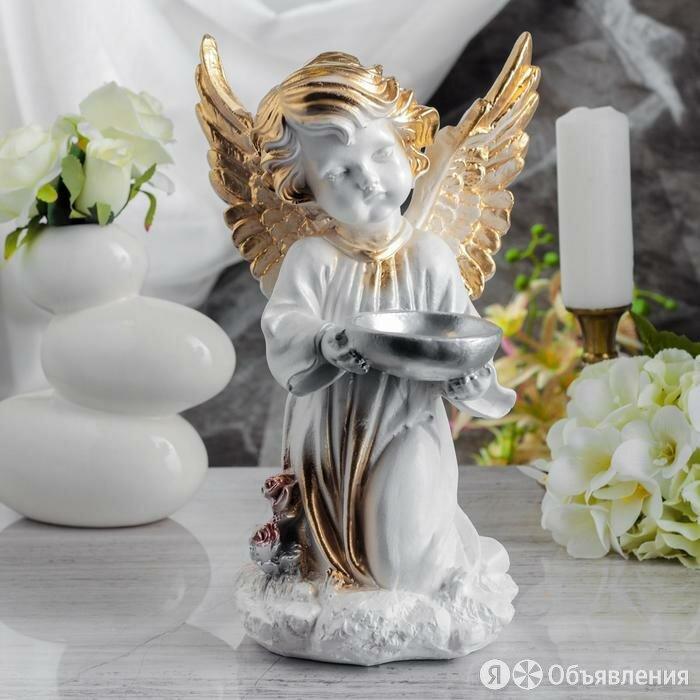 Статуэтка 'Ангел с чашей', бело-золотая, 33 см по цене 1036₽ - Статуэтки и фигурки, фото 0