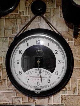 Часы настенные - Настенные часы маяк с барометром регулировка барометра, 0