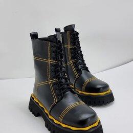 Ботинки - Ботинки на шнуровке чёрные, 0