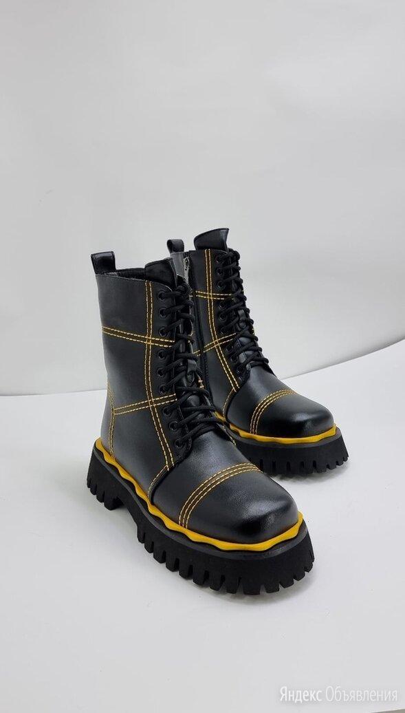 Ботинки на шнуровке чёрные по цене 4400₽ - Ботинки, фото 0