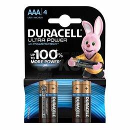 Батарейки - Элемент питания Duracell UltraPower LR03-4BL AAА 1.5V 1/4, 0