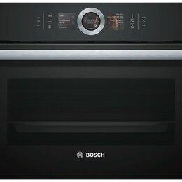 Духовые шкафы - Компактный духовой шкаф с микроволнами Bosch CMG636BB1, 0