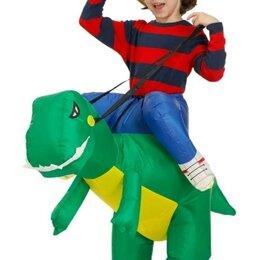 Карнавальные и театральные костюмы - Надувной костюм динозавр (штаны ,наездник), 0