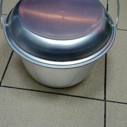 Туристическая посуда - Котелок конический алюминиевый 6 литров, 0