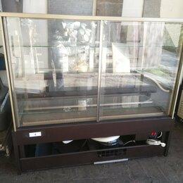 Холодильные витрины - ВИТРИНА КОНДИТЕРСКАЯ KAYMAN K-ВК-1300 КВАДРО БРОНЗА, 0