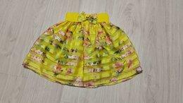 Юбки - Фирменная летняя красивая юбка на девочку, р 134, 0
