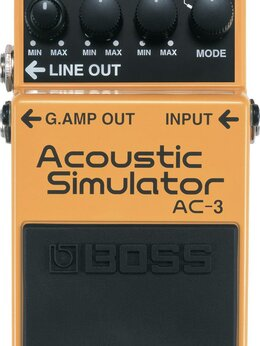 Процессоры и педали эффектов - BOSS AC-3 Acoustic Simulator Педаль эффектов для…, 0