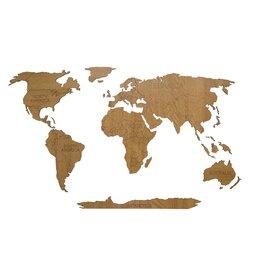 Картины, постеры, гобелены, панно - Деревянная карта мира 80х40 см Continent Еdition…, 0