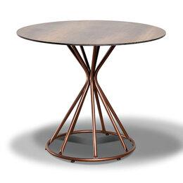 Столы и столики - Обеденный стол круглый 90 см Леон RC644-R90-SHT-TU, 0