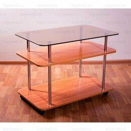 Столы и столики - Журнальный столик со стеклянной столешницей, 0