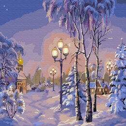 Рукоделие, поделки и товары для них - Картина по номерам Зимний вечер (30х30 см), 0