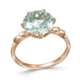 Кольца и перстни - Кольцо с празиолитом из красного золота, 0