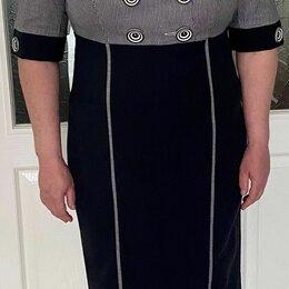 Платья - Платье синее, 48-50-52р., 0