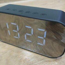 Умные колонки - Портативная колонка-часы-будильник новая, 0