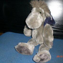Мягкие игрушки - Мягкая игрушка ослик с рюкзаком, 0