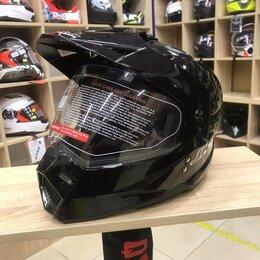 Шлемы - Мотошлем JK-802 Черный глянцевый, 0