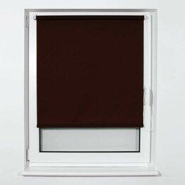 Римские и рулонные шторы - Штора рулонная BRABIX 70х175 см, текстура - лён,…, 0