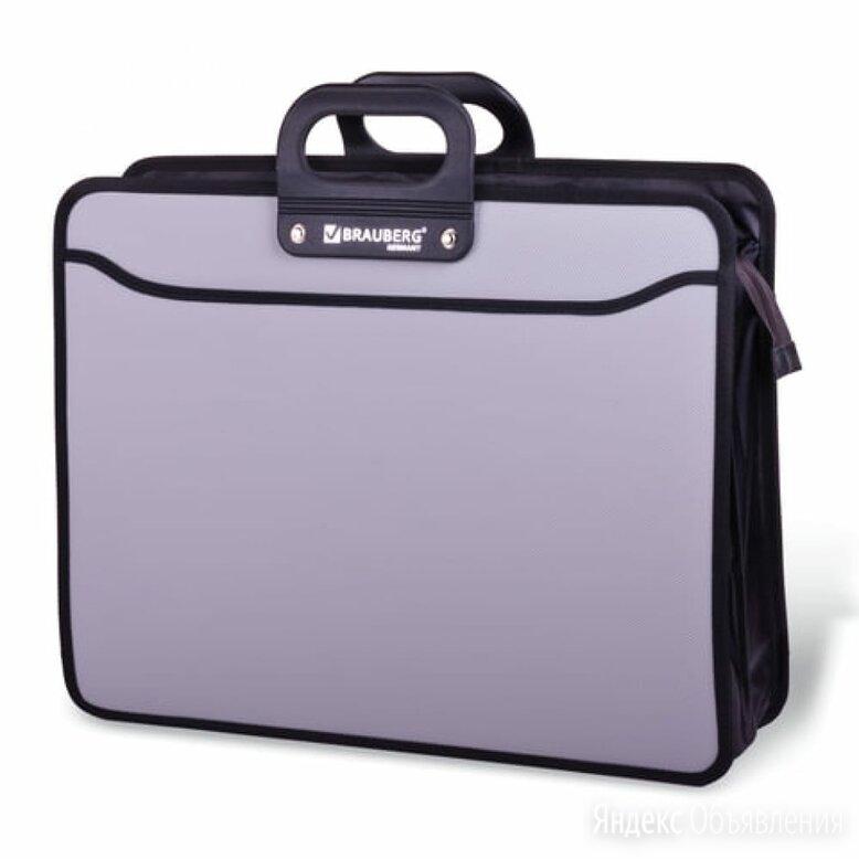 Пластиковая папка-портфель BRAUBERG ПОРТФОЛИО по цене 829₽ - Канцелярские принадлежности, фото 0