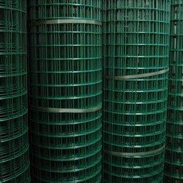 Заборчики, сетки и бордюрные ленты - Сетка заборная 50 х 100 х 2,5  (1,8 х 30 м) ПВХ зеленый, 0