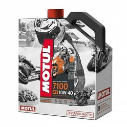 Масла, технические жидкости и химия - Масло моторное MOTUL (Мотюль) 7100 4T SAE 10W40 + смазка C4 CL FL 0,4 Промо, 0