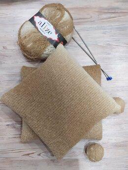 Декоративные подушки - Подушка с декоративным чехлом в бежевых тонах, 0