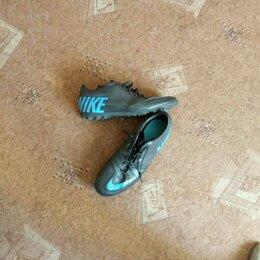 Обувь для спорта - Будцы 42-43 размер фирмяные чёрные с голубой эмблемой. , 0