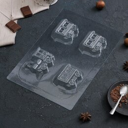 Формы для льда и десертов - Форма для шоколада 'Поезд', 28x19 см, 0
