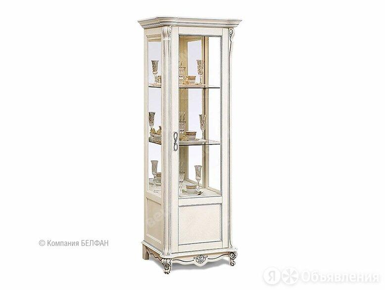 """Шкаф с витриной """"Алези 8"""" (правый); слоновая кость с серебром по цене 65876₽ - Шкафы, стенки, гарнитуры, фото 0"""