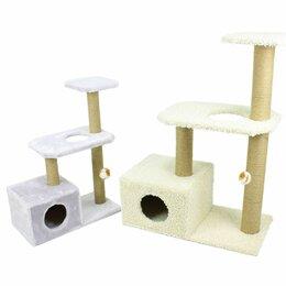 Лежаки, домики, спальные места - Дом для кошки, игровой комплекс, когтеточка, 0