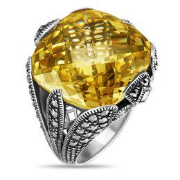 Кольца и перстни - Серебряное кольцо с фианитами и марказитами…, 0